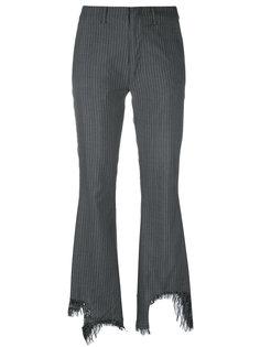 брюки с отрезанным низом Facetasm