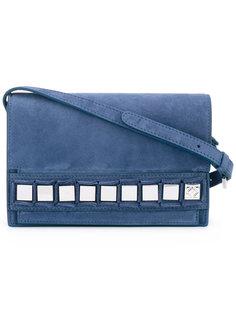 сумка на плечо с квадратными аппликациями Tomasini