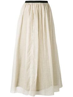присборенная юбка с эластичным поясом  Pas De  Calais