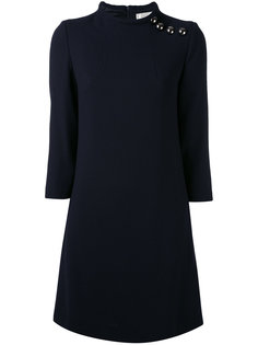 buttoned high neck dress Goat