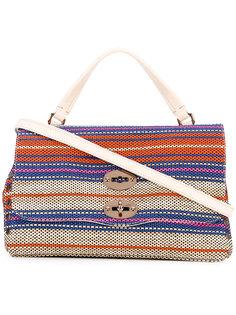 сумка-тоут в полоску Zanellato