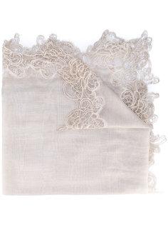 шарф с кружевной отделкой Faliero Sarti