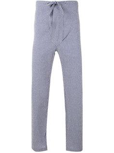 укороченные брюки в полоску Mp  Massimo Piombo