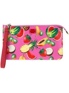 клатч с рисунком в виде фруктов Dolce & Gabbana