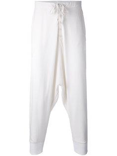 брюки Gaberdine с заниженным шаговым швом Greg Lauren
