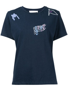футболка с вышивками Water