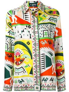 рубашка с этническим рисунком Emilio Pucci