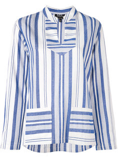 multi stripe slit neck top A.P.C.