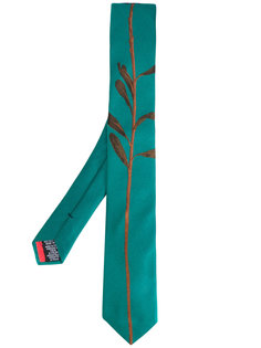 галстук с вышивкой стебля Paul Smith