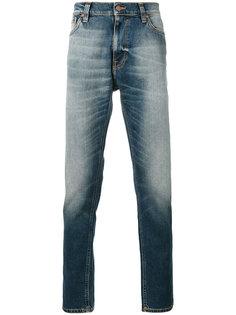 джинсы кроя слим с потертой отделкой Nudie Jeans Co