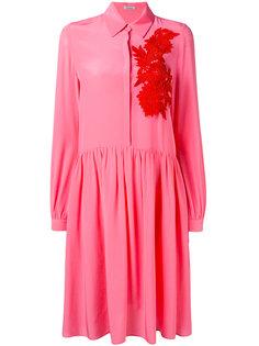 платье-рубашка с цветочной вышивкой P.A.R.O.S.H.