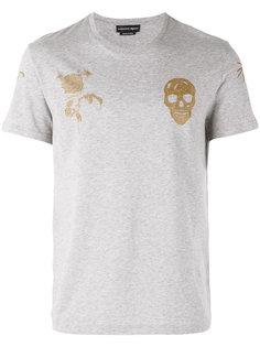 футболка с принтом черепов Alexander McQueen