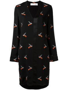 платье с длинными рукавами и V-образным вырезом Victoria Victoria Beckham