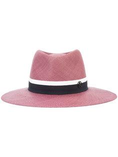 logo wide brim hat Maison Michel