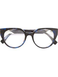 оптические очки в круглой оправе Fendi