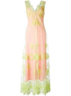 прозрачное платье с кружевными деталями Blugirl