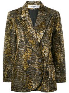 1990s tiger print blazer Jean Louis Scherrer Vintage