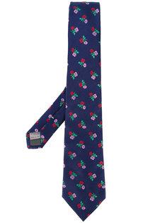 галстук с цветочной вышивкой Canali