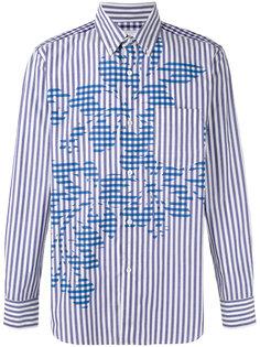 полосатая рубашка с цветочным узором Ganryu Comme Des Garcons