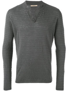ribbed open neck jumper Nuur