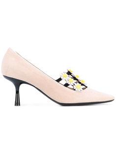 декорированные туфли на низком-каблуке Fabrizio Viti
