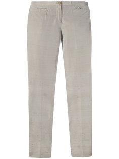 slim textured trousers Romeo Gigli Vintage