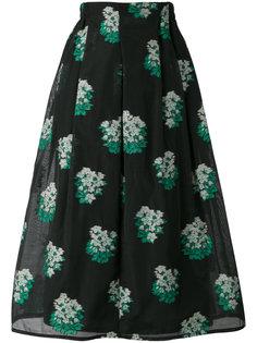 юбка миди с цветочным принтом Roseanna