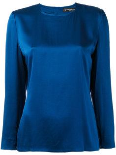 1990s minimal blouse Jean Louis Scherrer Vintage