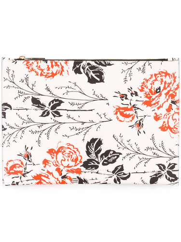 клатч с цветочным принтом Victoria Beckham