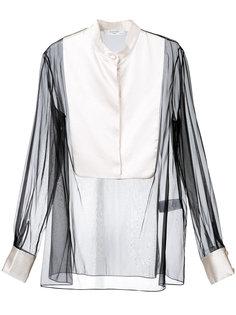 блузка с прозрачным нагрудником Lanvin