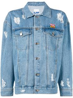 джинсовая куртка с потертой отделкой Steve J & Yoni P