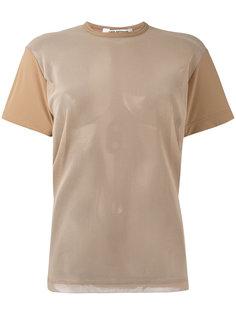 футболка с сетчатыми рукавами Junya Watanabe Comme Des Garçons