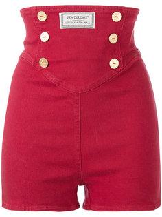 1990 matelot button shorts Fendi Vintage