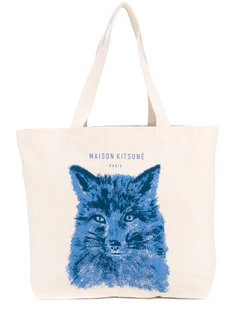 сумка-тоут с принтом лисы Maison Kitsuné