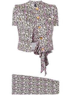 1980s three piece leopard print suit Jean Louis Scherrer Vintage
