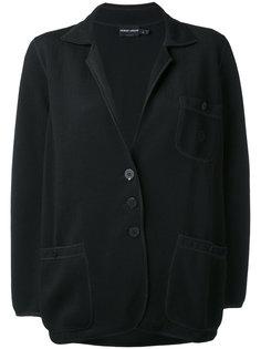 raw stitched casual blazer Giorgio Armani Vintage