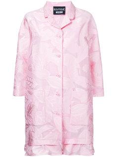 пальто с рюшами и растительным принтом Boutique Moschino