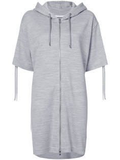 drawstring front zip hoodie dress Moschino