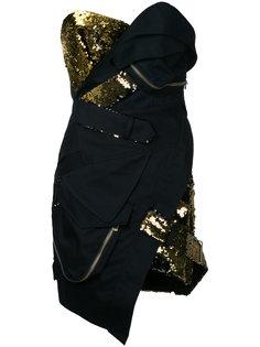 короткое платье-бюстье с пайетками Alexandre Vauthier