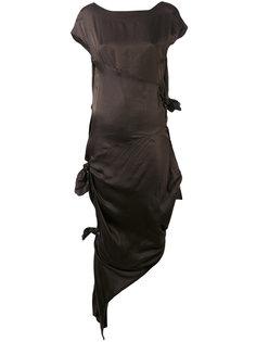 платье с декоративными узлами Alessandra Marchi