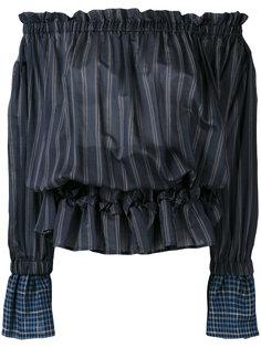 полосатая блузка с открытыми плечами Hache
