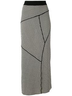 длинная полосатая юбка Alessandra Marchi