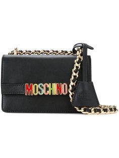сумка на плечо с радужным логотипом Moschino