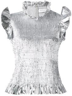 блузка с рюшами Marquesalmeida