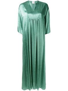 удлиненное атласное платье  Forte Forte