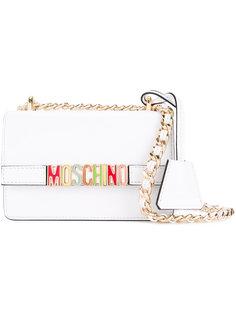 сумка на плечо с радужным принтом Moschino