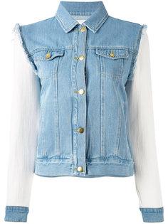 джинсовая куртка с контрастными рукавами Each X Other