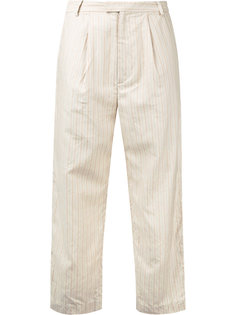 striped cropped trousers Cityshop