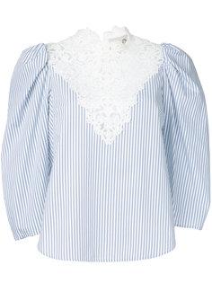 полосатая блузка с кружевным нагрудником Sea