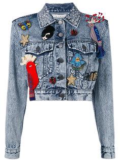 джинсовая куртка с заплатками Alice+Olivia